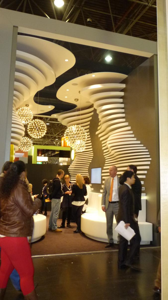 large exhibit at a conference