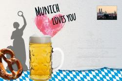 Munich Loves You Postcard