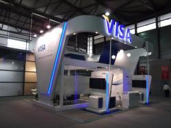 large tradeshow booth for VIsa