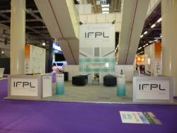 Image of IFPL exhibit at the Aircraft Interiors Expo in Hamburg, Germany